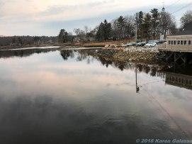 4 12 18 Kennebunk ME Dock Square bridge tidal river reflections #2 (3 of 3)