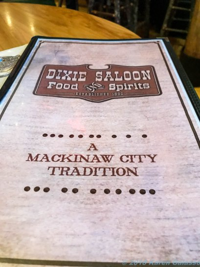 5 12 18 Mackinaw City MI dinner at the Dixie Saloon & Security (1 of 2)
