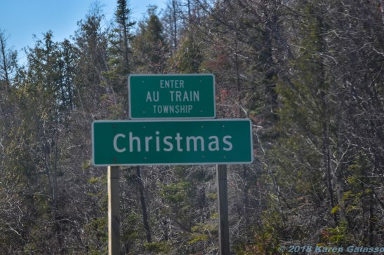 5 15 18 On the road from Petoskey MI to Marquette MI Passing through Christmas MI (1 of 3)