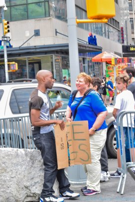 5 4 18 Brooklyn to Union Square Free hugs guy (4 of 6)