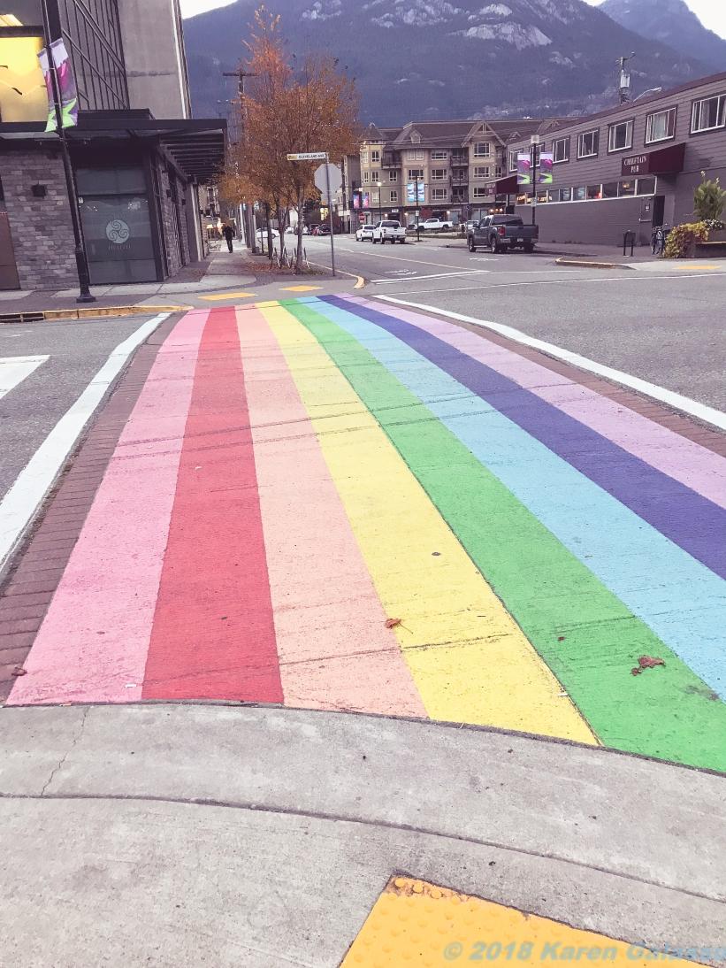 10 11 18 LGBT Support Crosswalk Squamish BC Canada (1 of 1)