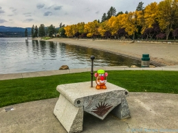 10 5 18 Mr PH enjoying the Coeur d'Alene Park in Coeur d'Alene ID (1 of 5)