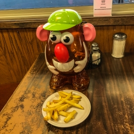 10 6 18 Mr PH enjoying some fries at Jake's Cafe in Ritzville WA (1 of 3)