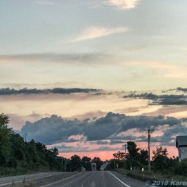 9 16 18 Sunset driving to and in Cazenovia NY (5 of 14)