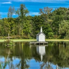 Cross Island Chapel Worlds Smallest Church Oneida NY (1 of 2)