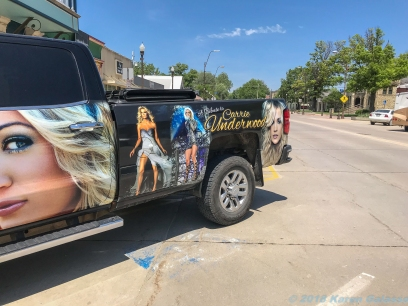 5 16 19 Fan painted truck in Wamego KS (2 of 2)