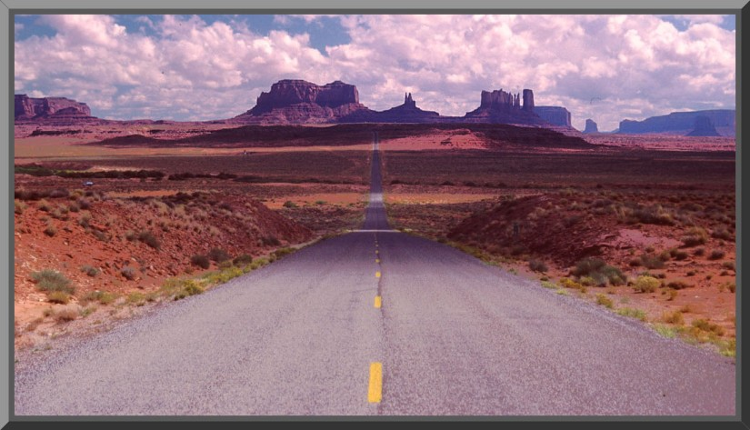 Where Forest Gump stopped running...Monument Valley AZ