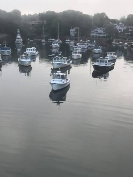 7 9 20 Perkins Cove as the fog rolls in