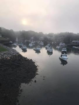 7 9 20 Perkins Cove fog rolling in